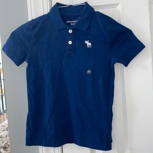 Abercrombie kids blue polo